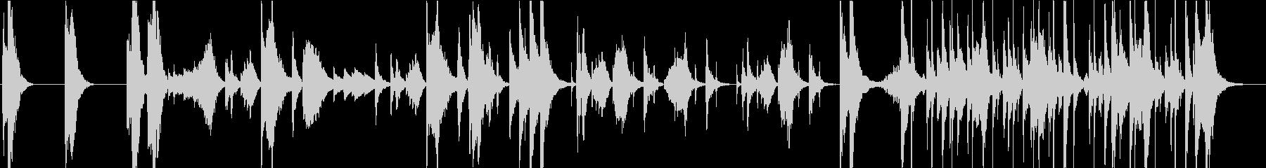 不思議・コミカルなシーンのBGMの未再生の波形
