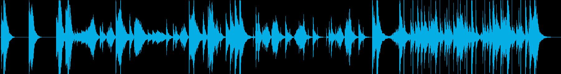 不思議・コミカルなシーンのBGMの再生済みの波形