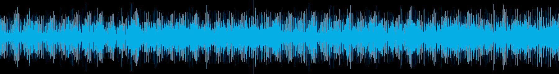 パズルやシューティングゲームに合う曲の再生済みの波形