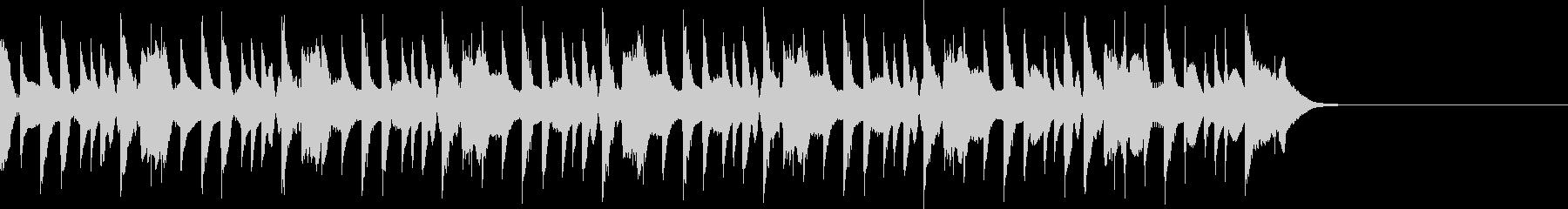コミカルなテクノポップジングルの未再生の波形