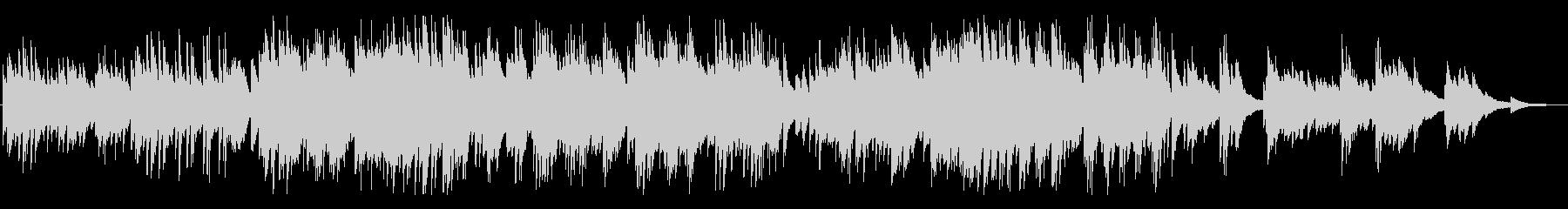 爽やかで、ノスタルジックなピアノBGMの未再生の波形