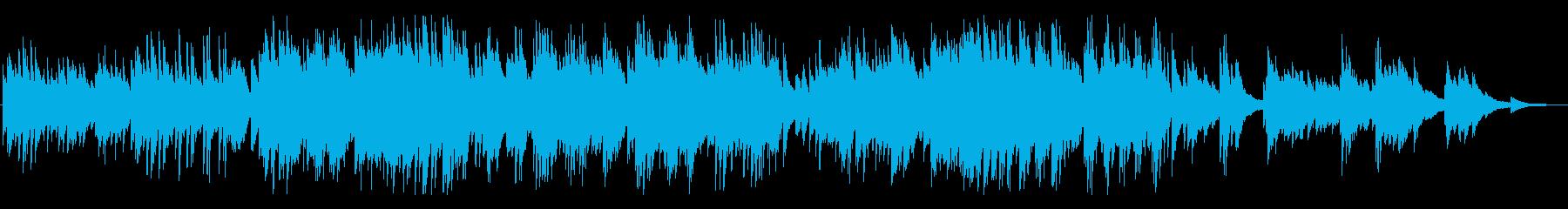 爽やかで、ノスタルジックなピアノBGMの再生済みの波形