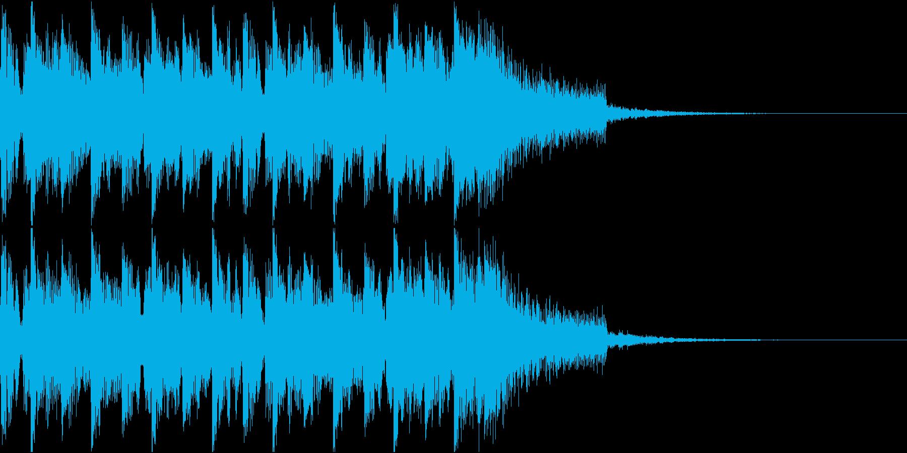 ニュース ラジオ テクノジングルの再生済みの波形