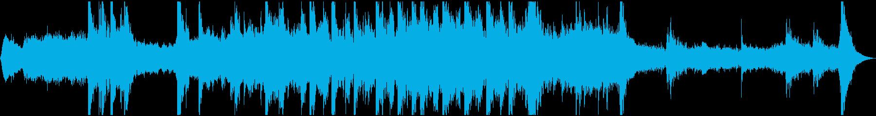 オーケストラによる戦いの終わりのイメージの再生済みの波形