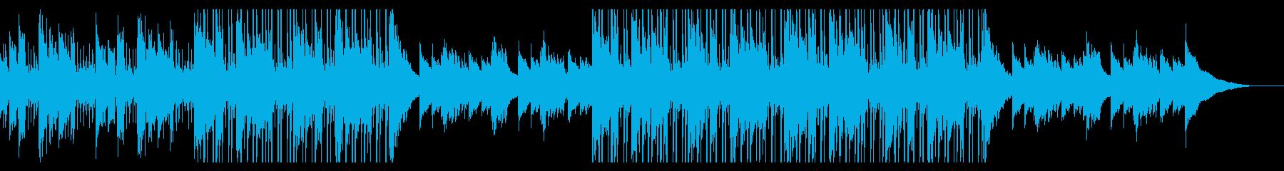 カフェの明るいジャズピアノ【キー+2】の再生済みの波形