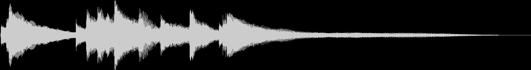 シンプルなピアノ - 愛を運ぶジングルの未再生の波形