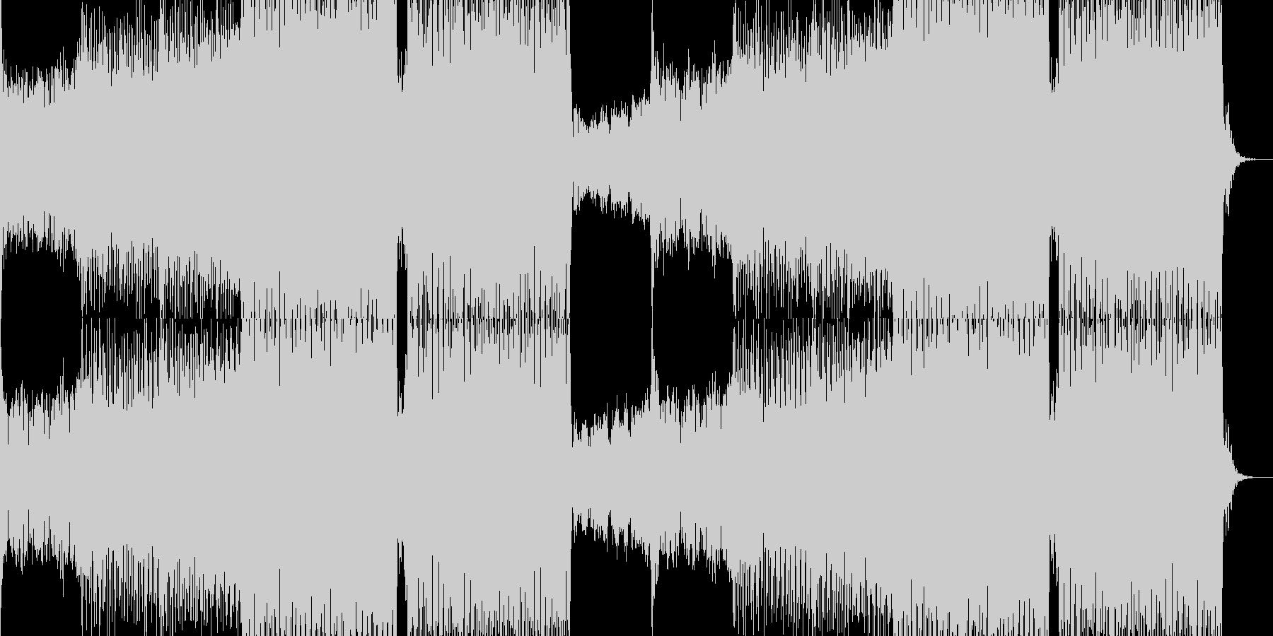 ファンキーなEDMダンストラックの未再生の波形