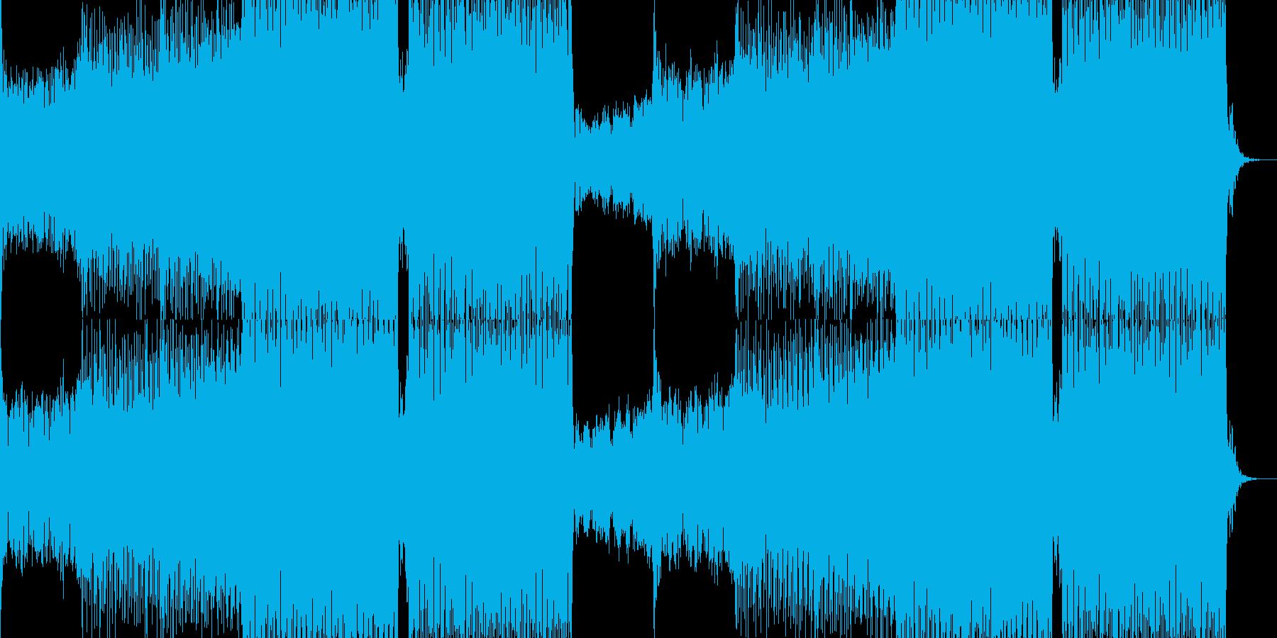 ファンキーなEDMダンストラックの再生済みの波形