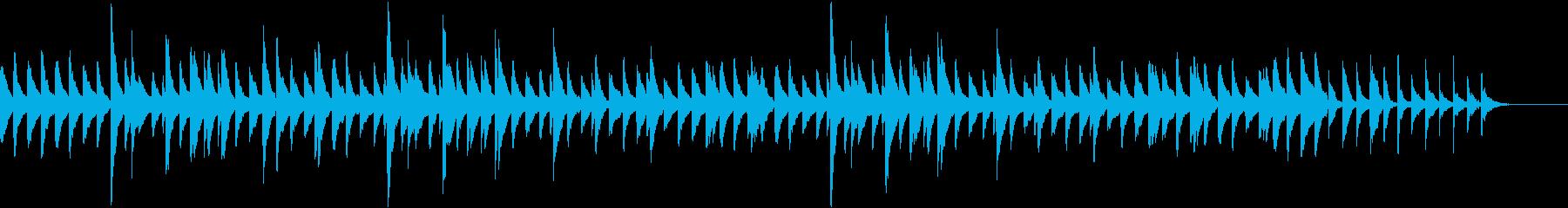 サティっぽいピアノ曲の再生済みの波形