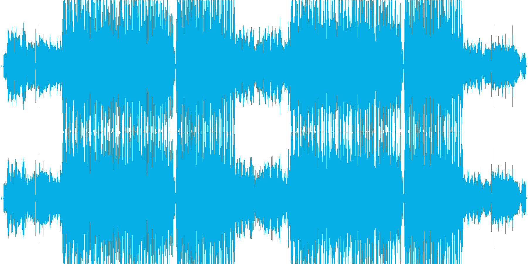 憧れの再生済みの波形