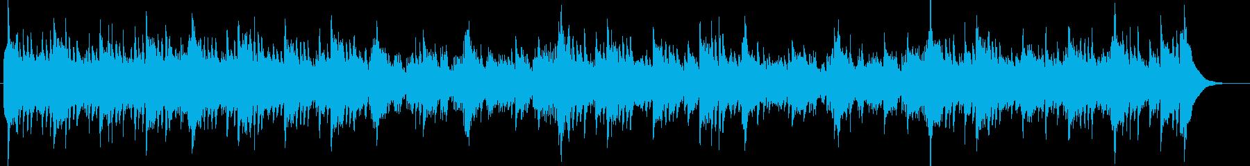 シタールとアコギ60'sラーガ・フォークの再生済みの波形