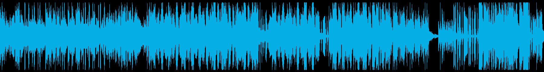 ファンクなグルーヴのループ音楽の再生済みの波形