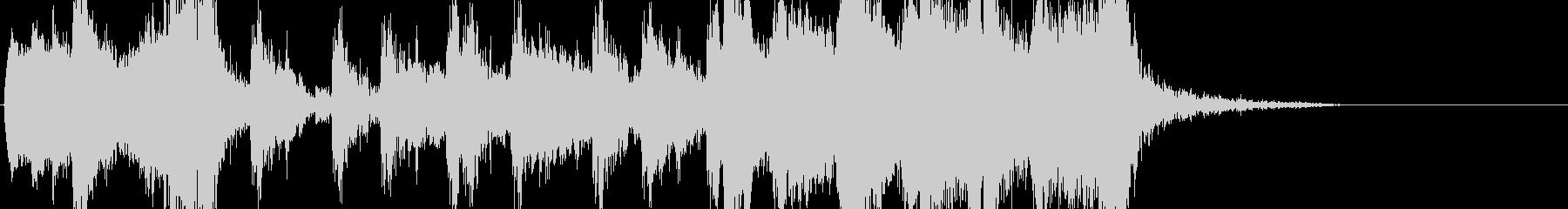 かっこいいオーケストラ風ジングルの未再生の波形
