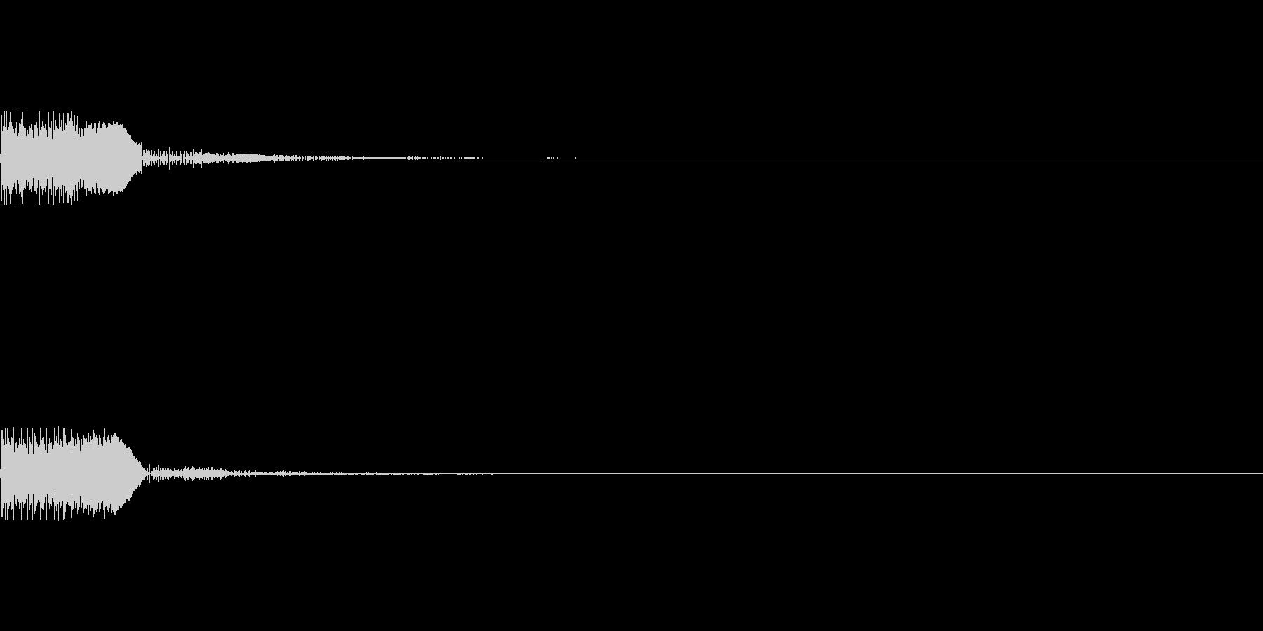 ボヨン1 弾む 弾力 ジャンプ ゴムの未再生の波形