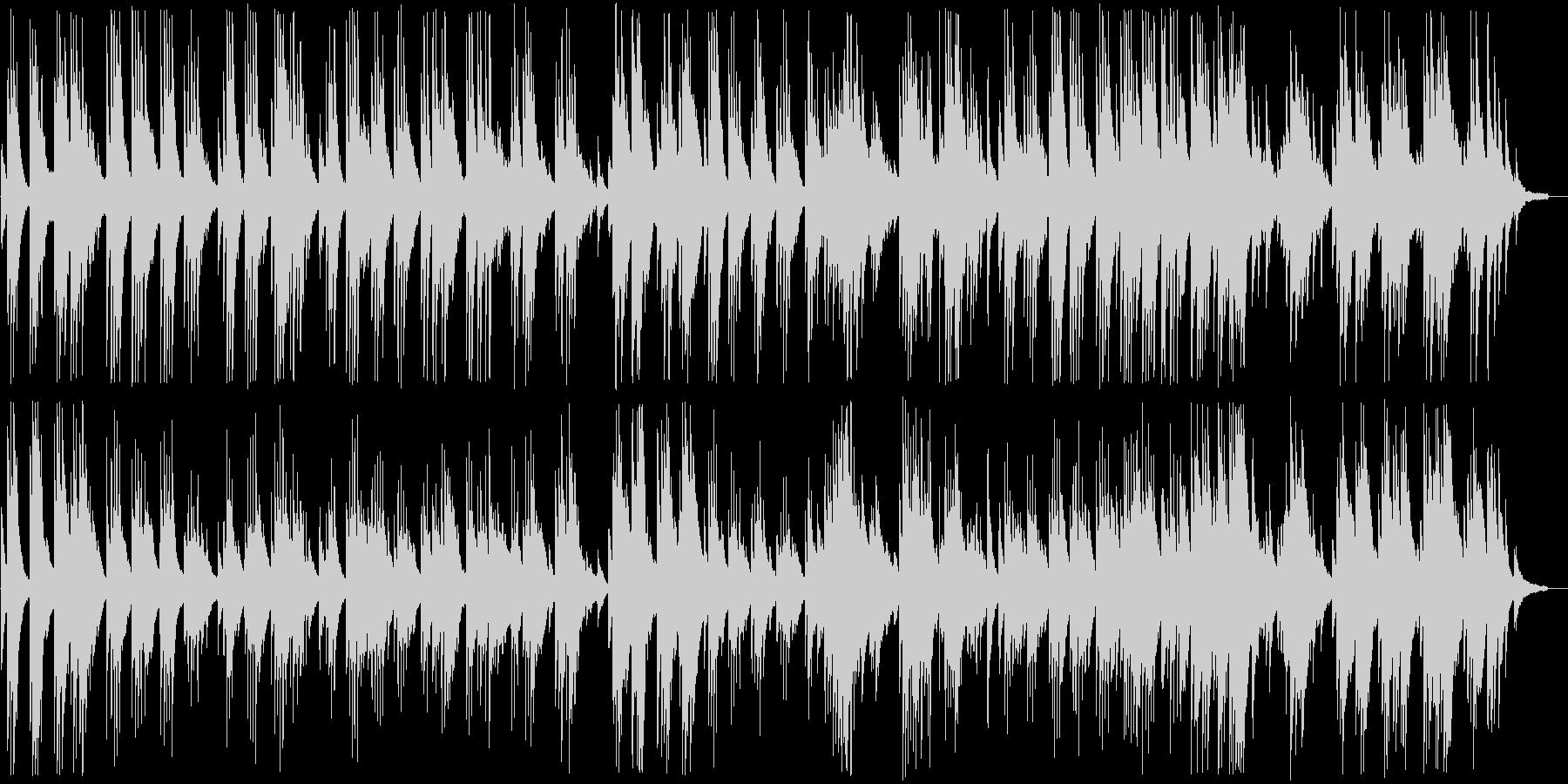 癒される穏やかなピアノバラードの未再生の波形