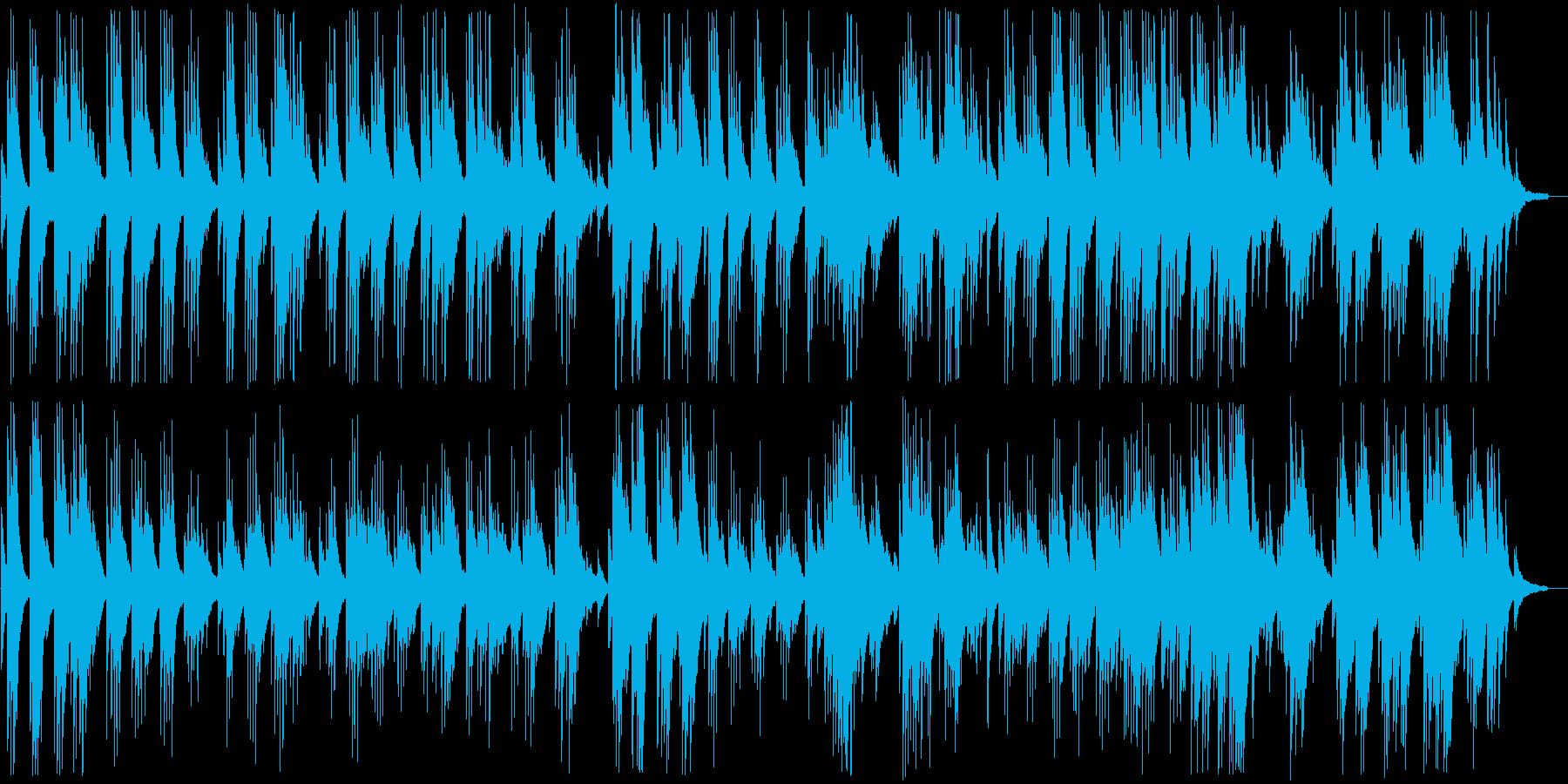 癒される穏やかなピアノバラードの再生済みの波形
