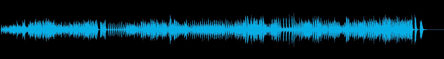 テンポの良いピアノ曲の再生済みの波形