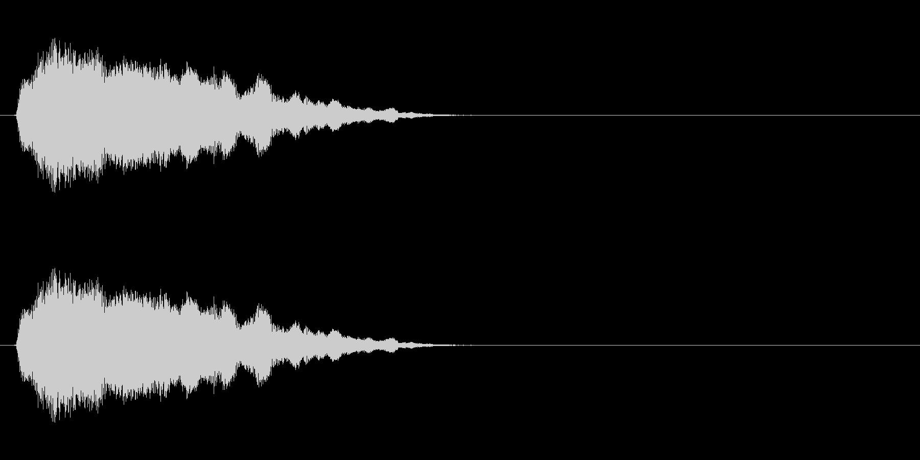 コミカルなおばけの声の未再生の波形