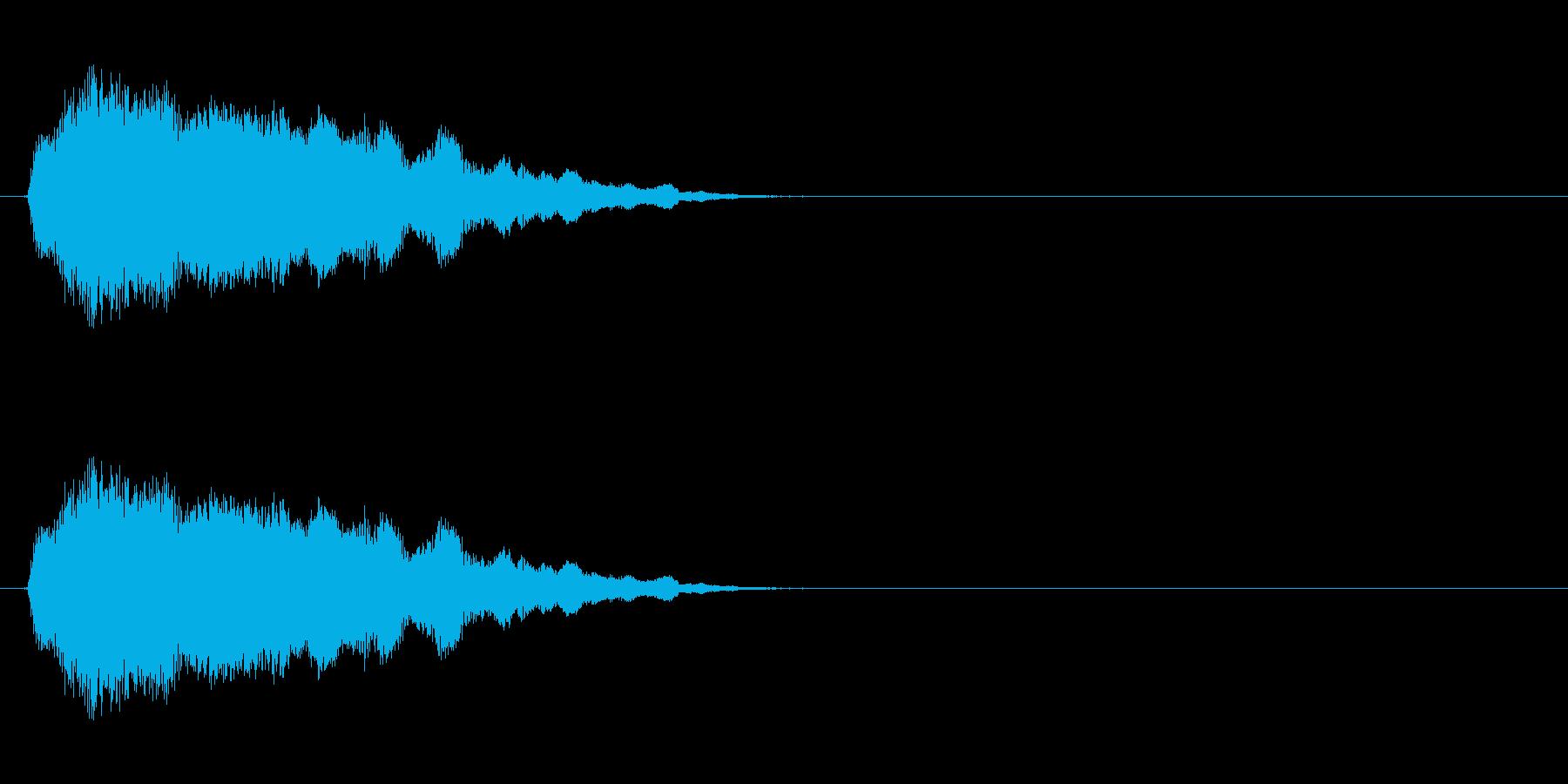 コミカルなおばけの声の再生済みの波形