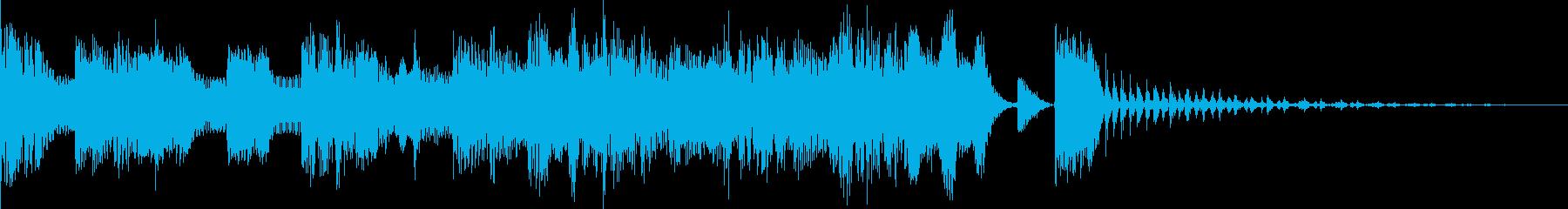 ラノベ感のある慌てたジングルの再生済みの波形