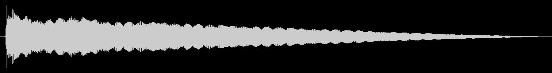 ゴーン  仏具の鐘、お鈴の未再生の波形