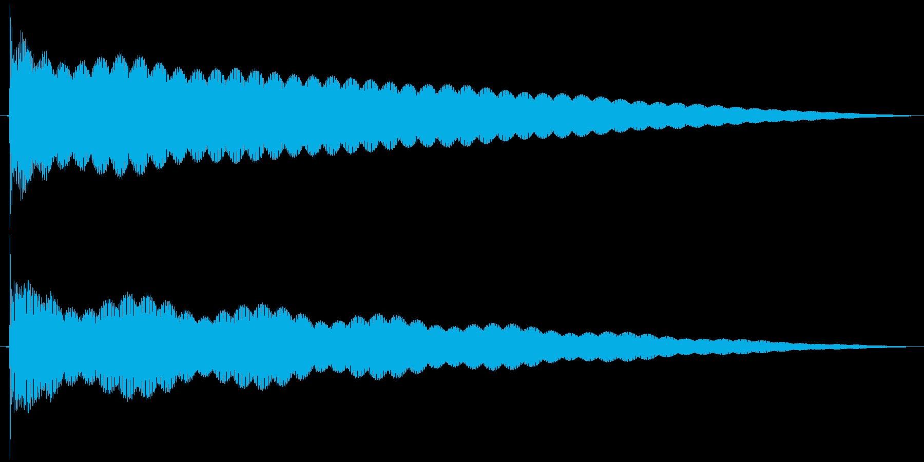 ゴーン  仏具の鐘、お鈴の再生済みの波形