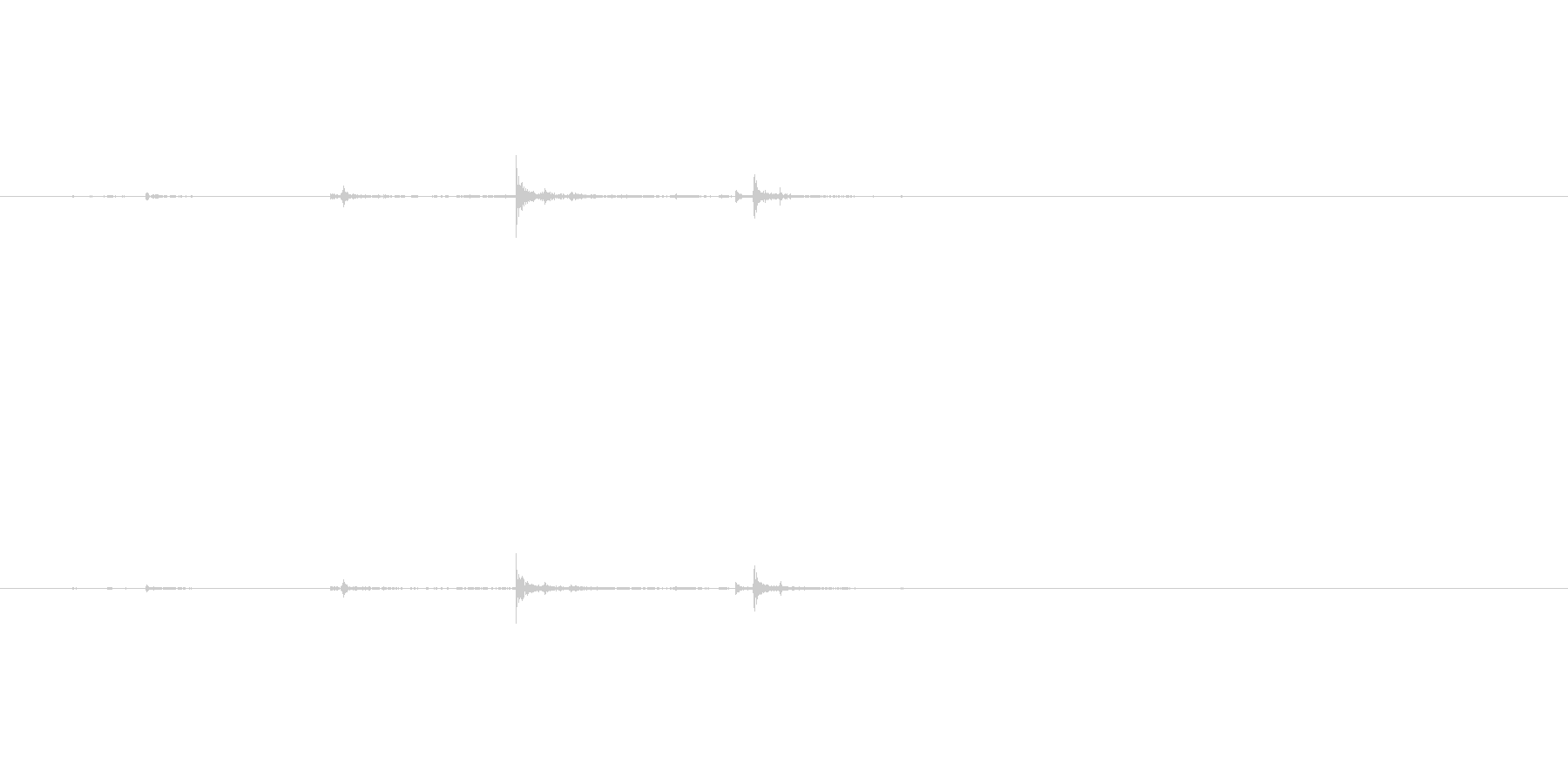 カチャ(鍵を閉める音)の未再生の波形