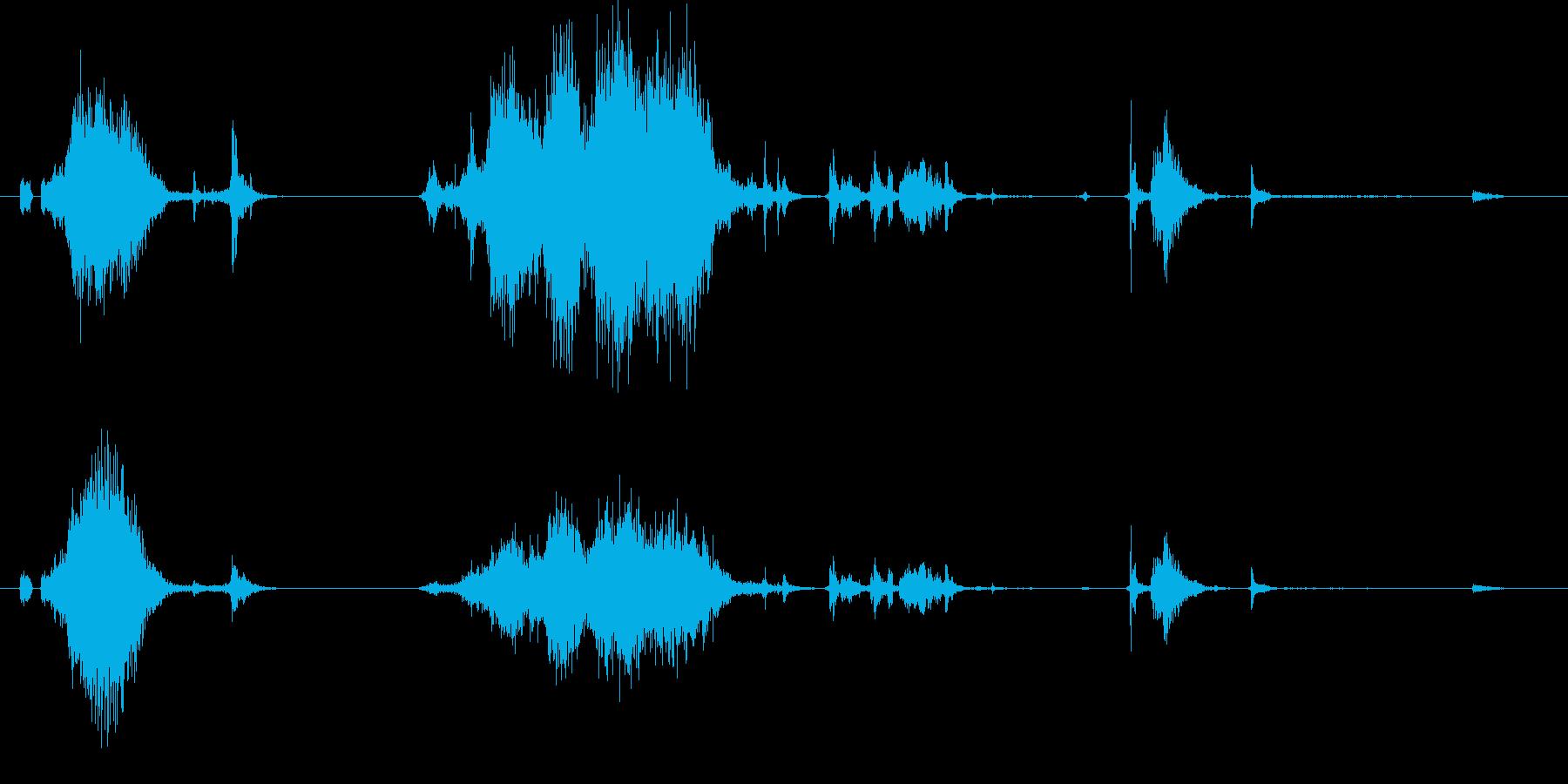 【銃】カチャッ!リロード音01【FPS】の再生済みの波形