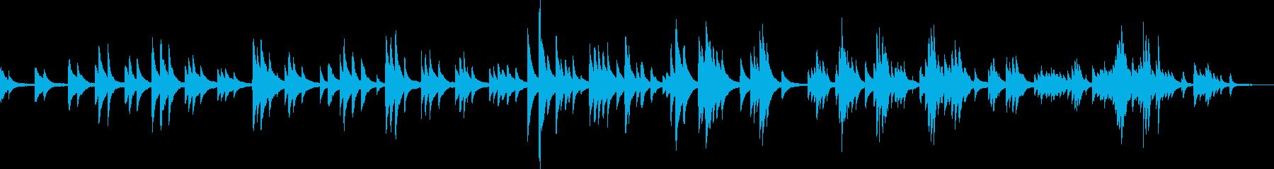 切なくて温かいピアノバラード(ゆったり)の再生済みの波形