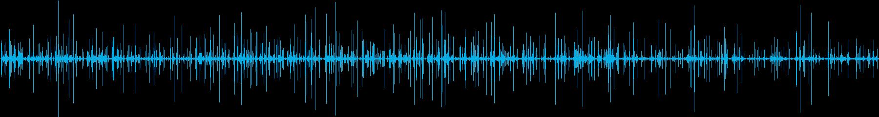 紙をビリビリと千切る音の再生済みの波形