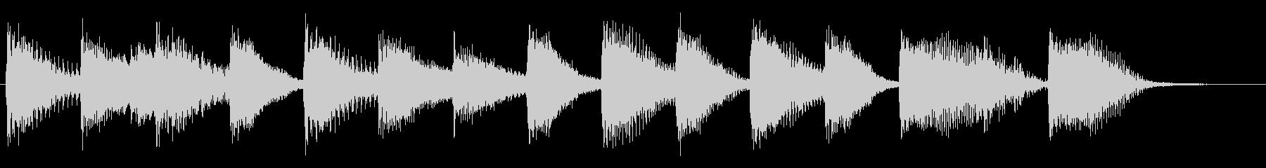 ウキウキ!明るく陽気なピアノジングル2の未再生の波形