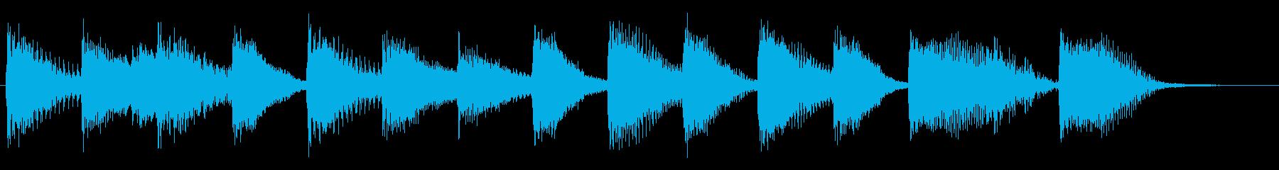 ウキウキ!明るく陽気なピアノジングル2の再生済みの波形