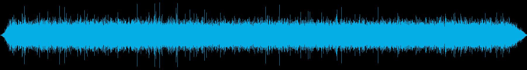 小さくて速い滝:クローズアップ滝の再生済みの波形