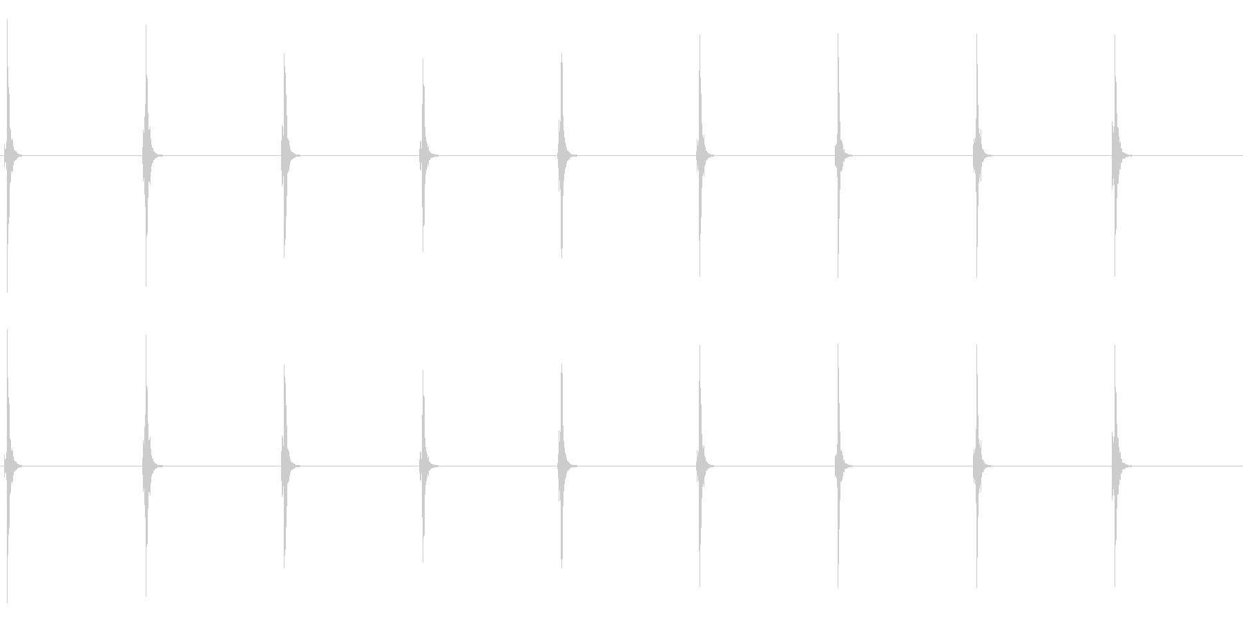時計 秒針のリアルな効果音 02の未再生の波形