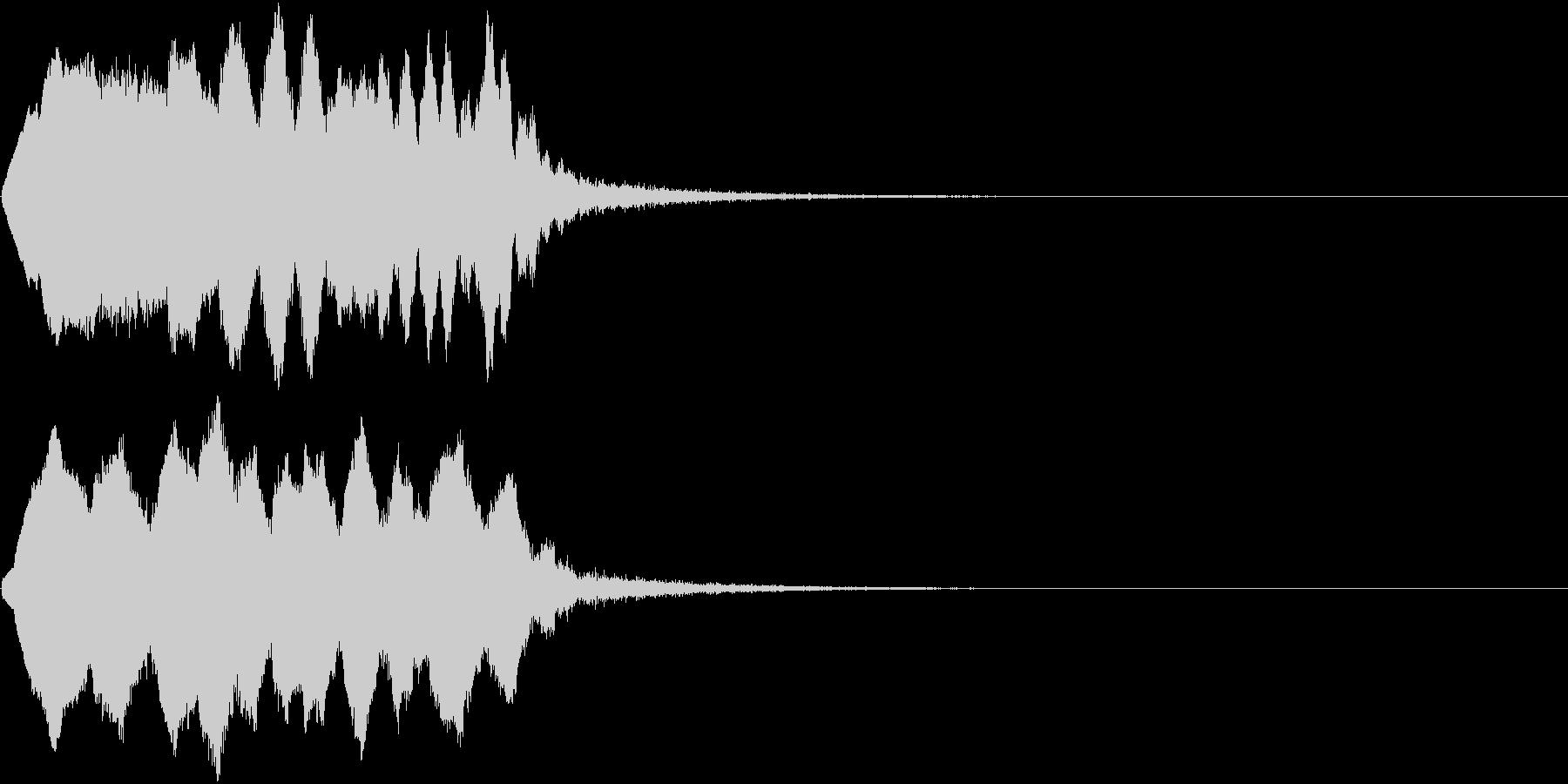 TVFX ポワーン クイズ出題前 上昇音の未再生の波形