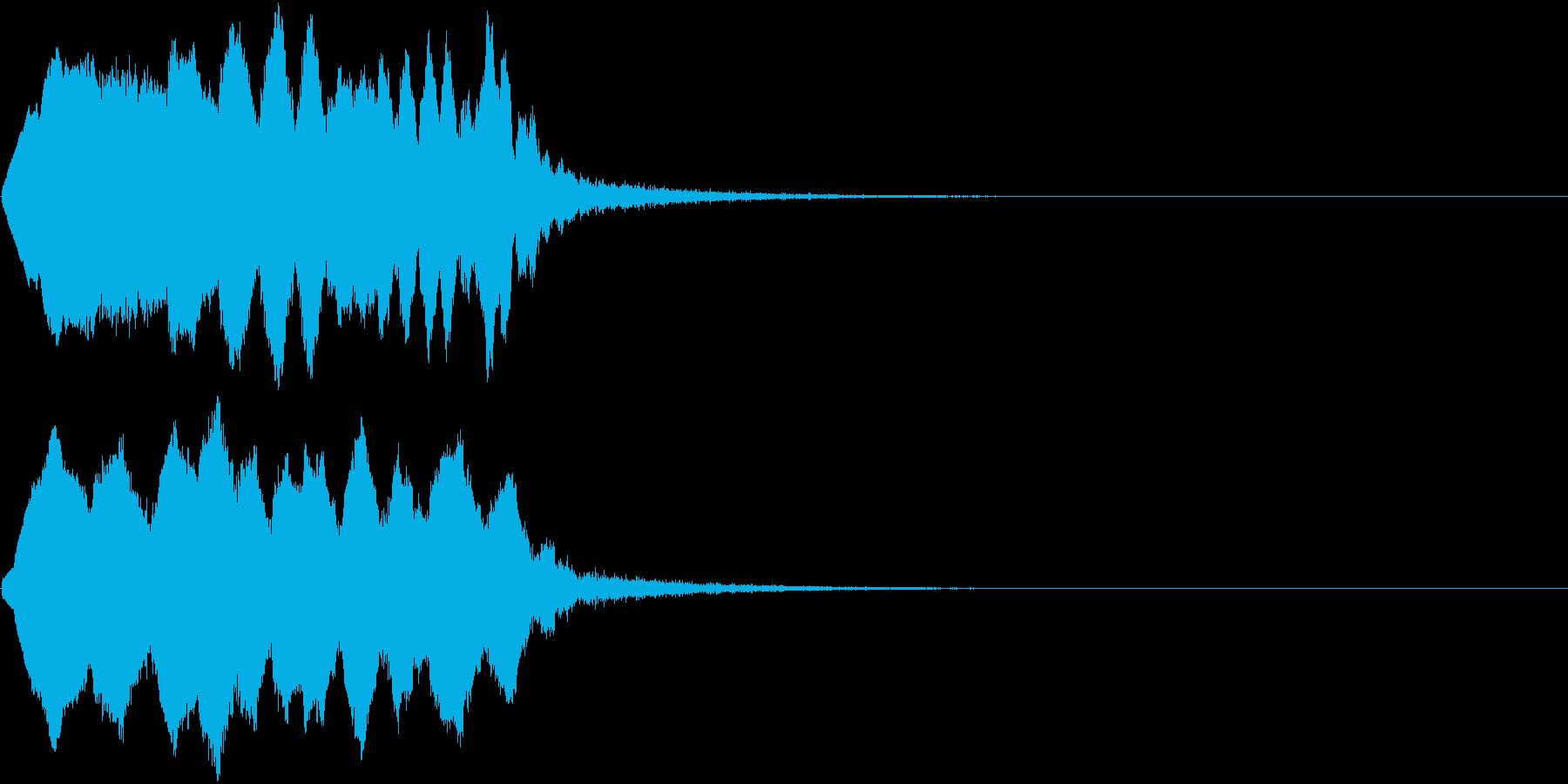 TVFX ポワーン クイズ出題前 上昇音の再生済みの波形
