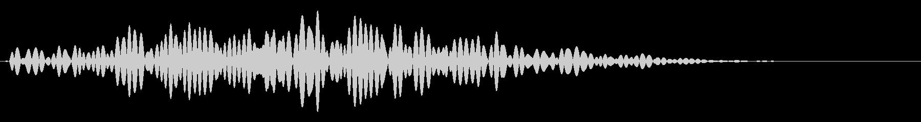 ハンマーを投げるような音です。の未再生の波形