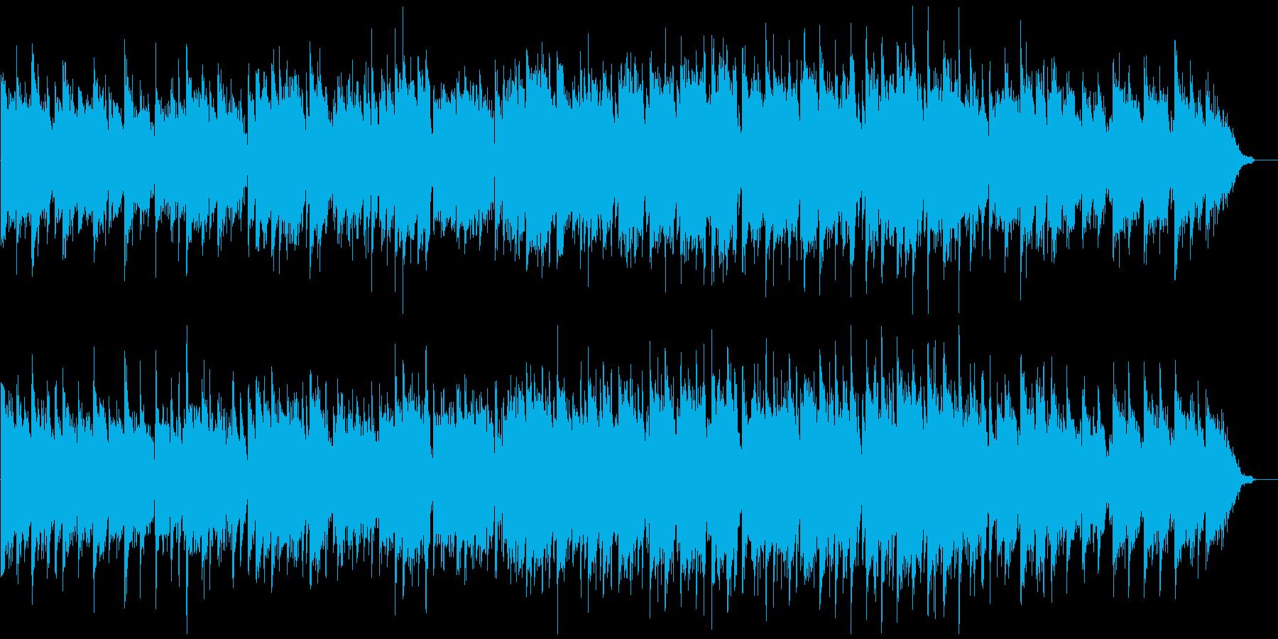 しっとりと落ち着いた篠笛生演奏の和風曲の再生済みの波形