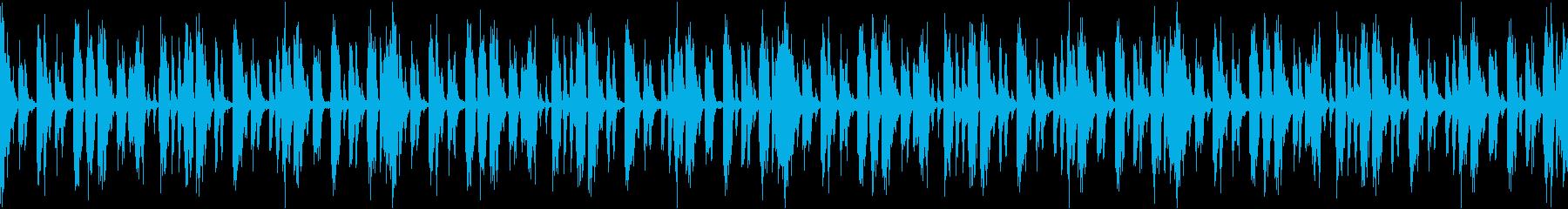 無機質なテクスチャー系ドラムループの再生済みの波形