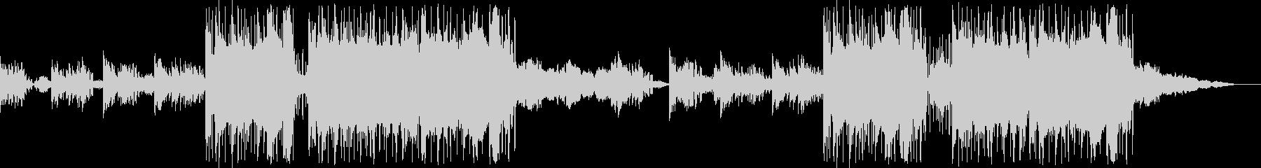 幻想的なピアノのBGMの未再生の波形