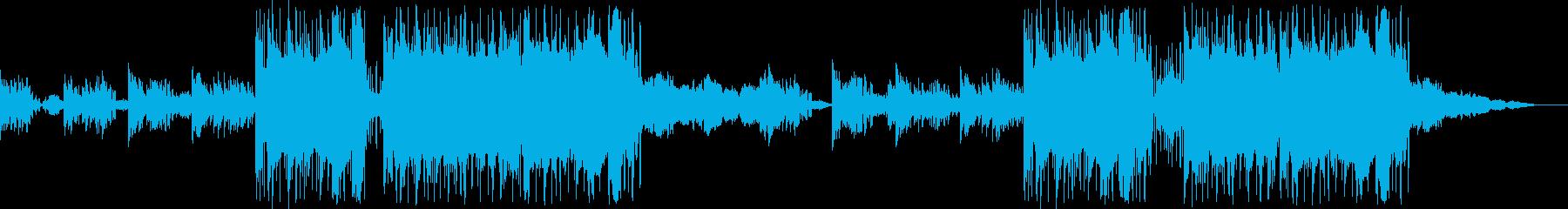 幻想的なピアノのBGMの再生済みの波形