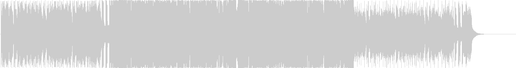 ピアノ入りEDMの未再生の波形