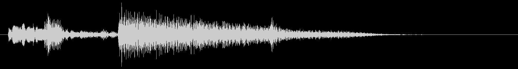 典型的なジャズ(暗め)(5秒以内)の未再生の波形