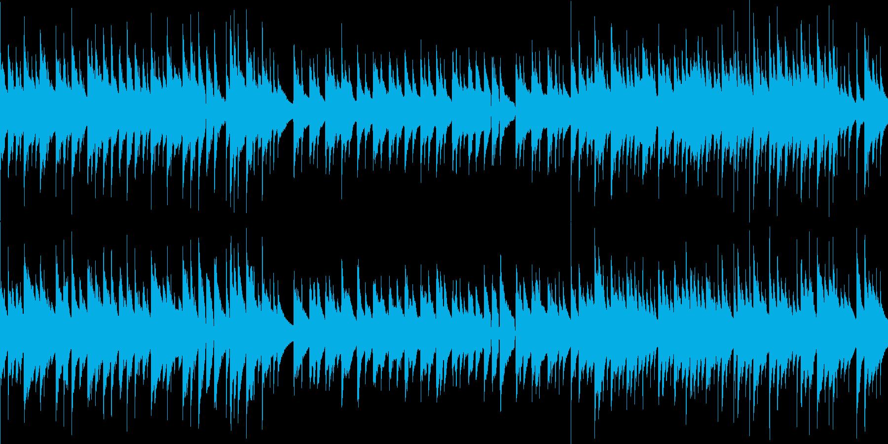 ループ 穏やかなアコースティックギターの再生済みの波形