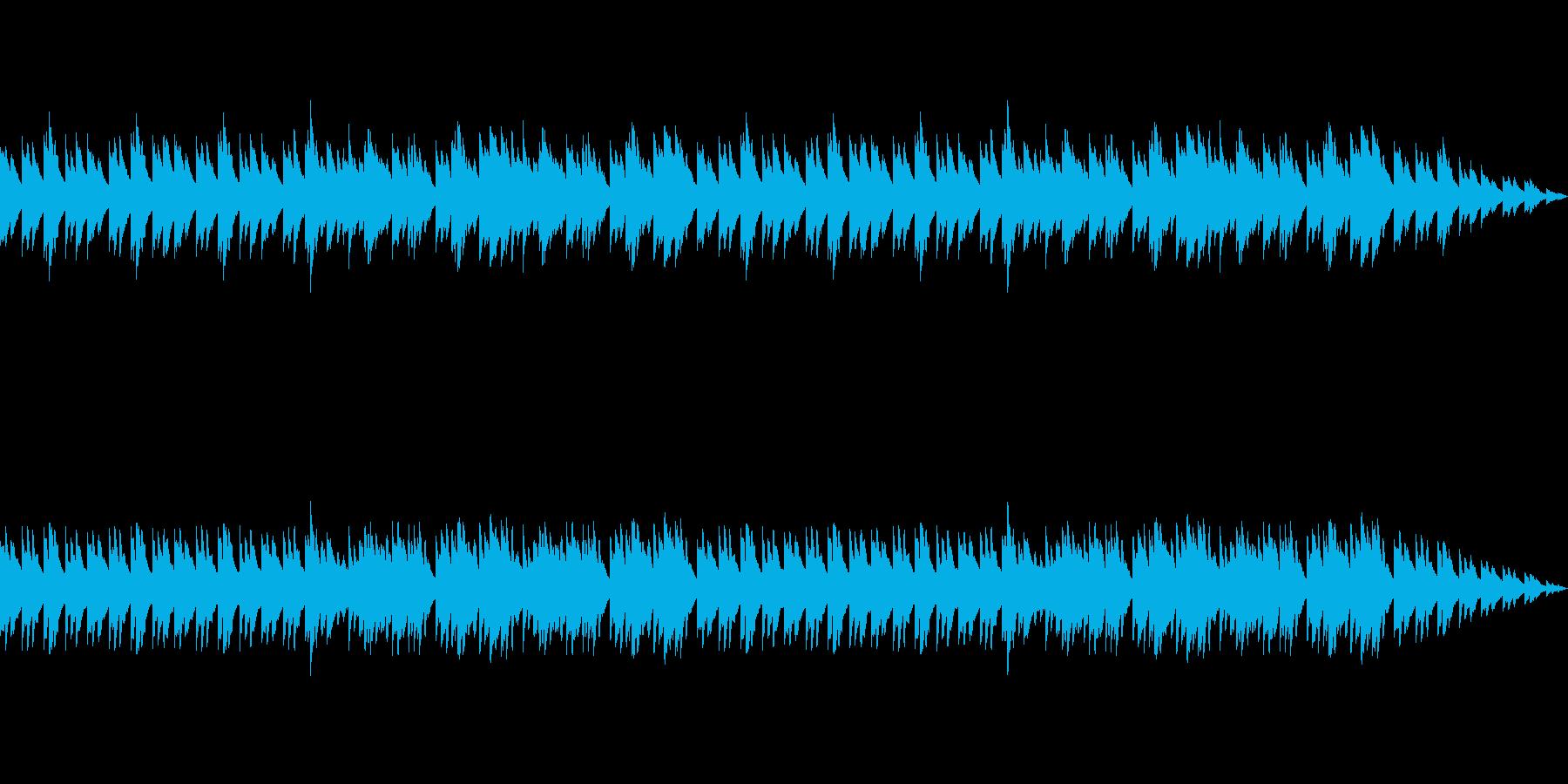 ノスタルジックな雰囲気を持つオルゴールの再生済みの波形