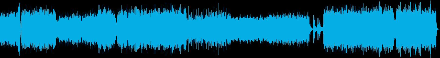 侍ジャズ風の疾走感重視の曲の再生済みの波形
