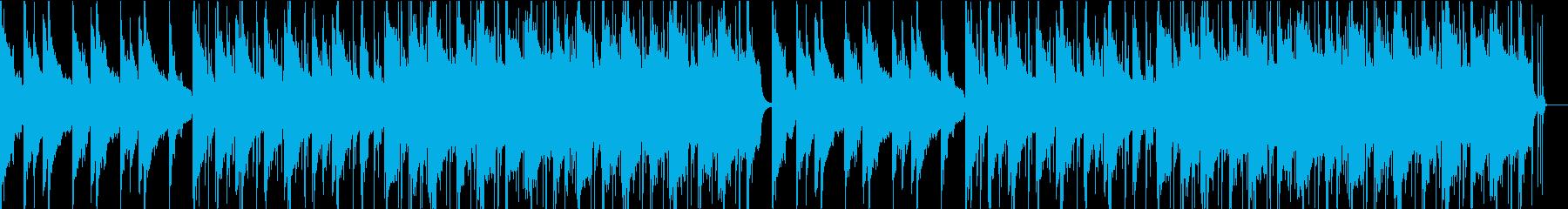 寂しげなピアノとストリングスのBGMの再生済みの波形