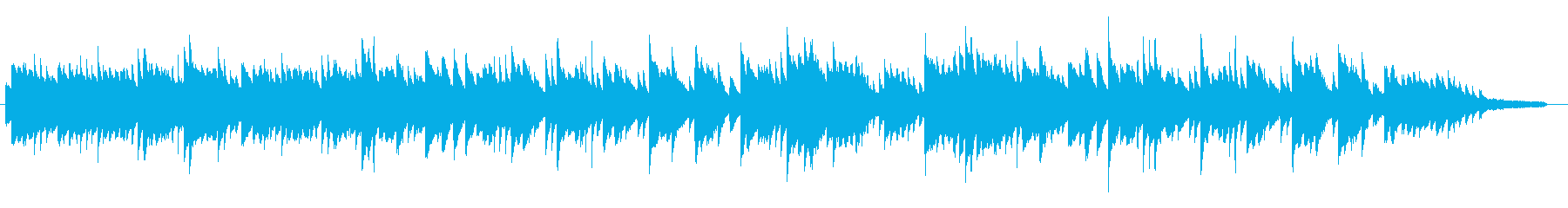 感動的で落ち着く映画音楽風のピアノソロの再生済みの波形