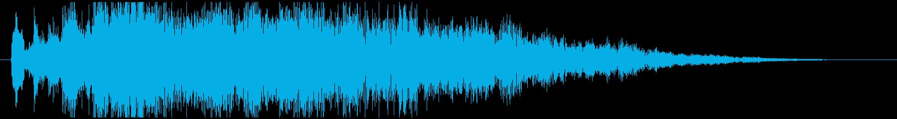 神秘的で透明感のあるアクセント音8の再生済みの波形