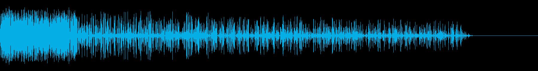 ピボー!(ノイズ/衝撃/攻撃/爆撃レトロの再生済みの波形